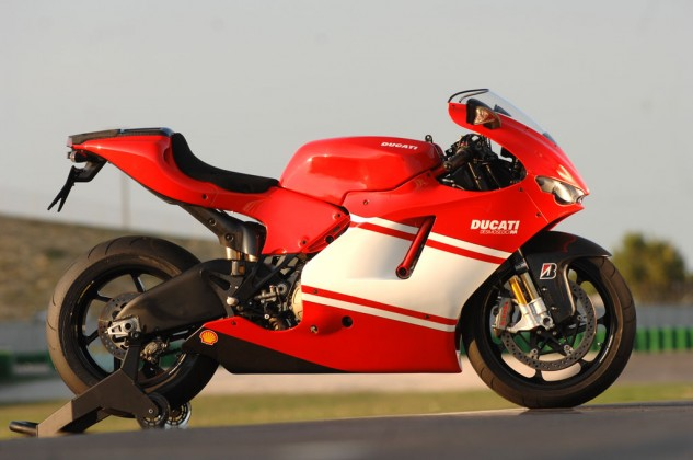 Ducati's fabulous MotoGP replica, the 2008 Desmosedici D16RR, employs the most extensive range of lightweight components of any production streetbike. It boasts titanium valves and connecting rods, magnesium engine covers, forged magnesium wheels, an aluminum fuel tank, plus scads of carbon fiber pieces, including a self-supporting subframe.