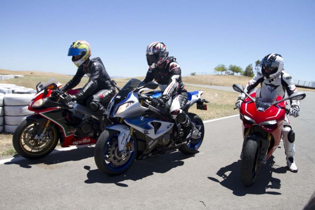 Lightweight materials are used throughout high-end sportbikes such as these Euro exotics. A lighter vehicle, all else being equal, has higher levels of performance.