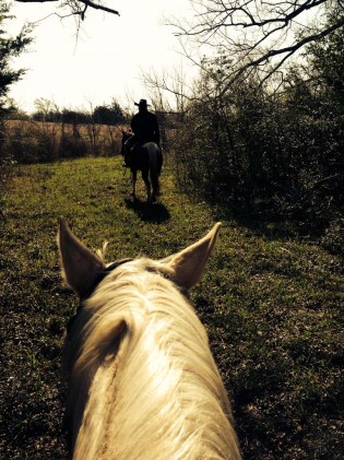 A nice ride on one of Mr. Elick's retired cutting horses is just the thing to make you re-appreciate your motorcycle.