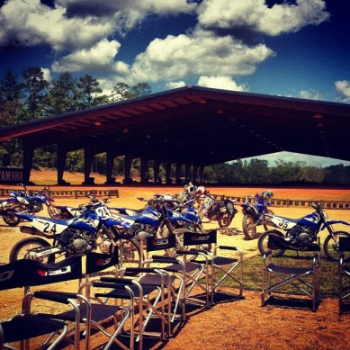 The Texas Tornado Boot Camp teaches you to ride on three or four different dirt tracks in and around the Cathedral of Speed. Then it teaches you the meaning of life in those chairs when the sun goes down. There is no beer, but there is plenty of Coors Light.