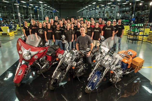 The new Indian motorcycles are now made in Polaris' Spirit Lake facilities, alongside Victory Motorcycles.