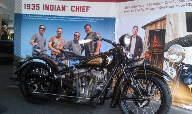 """American Pickers"" TV star, Mike Wolfe owns this 1935 Indian Chief."