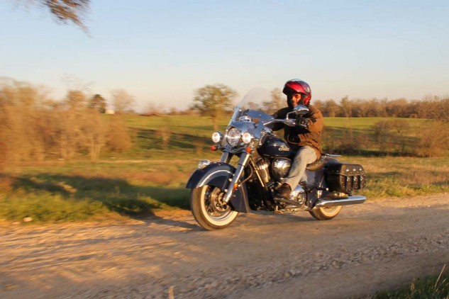 Shoei's Neotec modular is hard to beat for moto-traipsing, and my Aerostich Falstaff jacket feels as comfortable on a horse as it is does on a motorcycle.