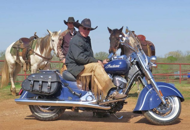 Real-live Texas cowboys John Elick and Robert Vaughn will be eternally grateful to me for bringing them the iron horse.