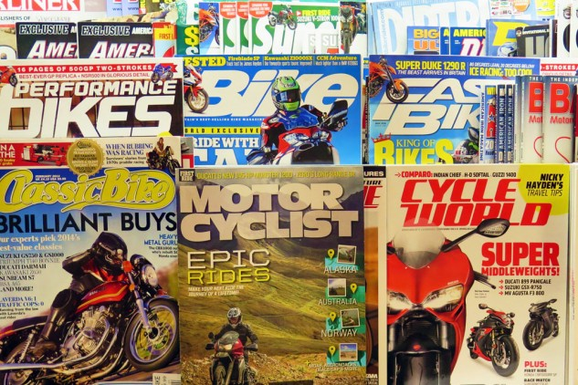 "Then too, there's nothing like snuggling up with a good print magazine. In spite of the genius of ""Nicky Hayden's Travel Tips,"" I have to say I think the Brit magazines are usually worth twice the money, though Motorcyclist is looking good lately, too."