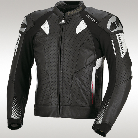 RS Taichi's flagship leather sport jacket, the GMX-Motion is essentially the upper half of a full race suit.