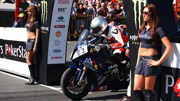 Graham English at the start of the 2013 Senior TT.