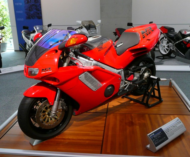 As a technological demonstrator, the 1992 Honda NR750 was unmatched in its day and even still holds its tech head high two decades later. Carbon fiber is used for the bodywork on the 700 NRs sold to the public. But most incredible is its oval-piston V-4 engine that uses eight connecting rods and 32 valves to mimic a 750cc V-8. There is literally nothing else like it and probably never will be again.