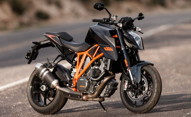 "The look of the Super Duke R has been described by our editors as ""striking, cool, post-industrial, stealth fighter, contemporary, not pretty but not ugly, techno-funky."""