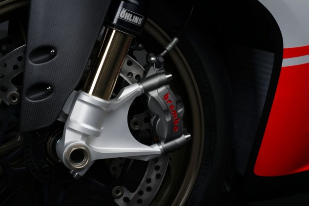 The Panigale's monobloc Brembo M50 calipers look impossibly small but deliver phenomenal power and feedback.