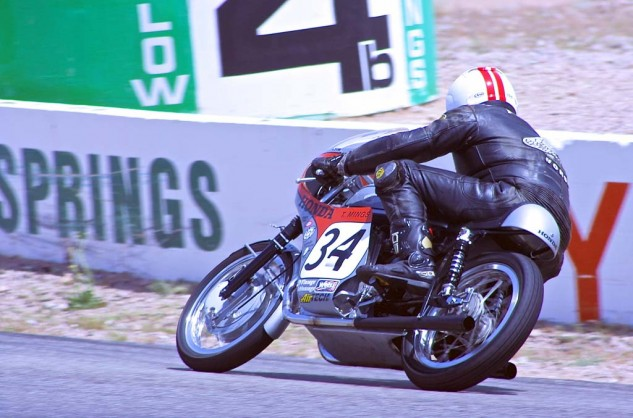 Tim Mings took third in 350 GP on a 1962 Honda.