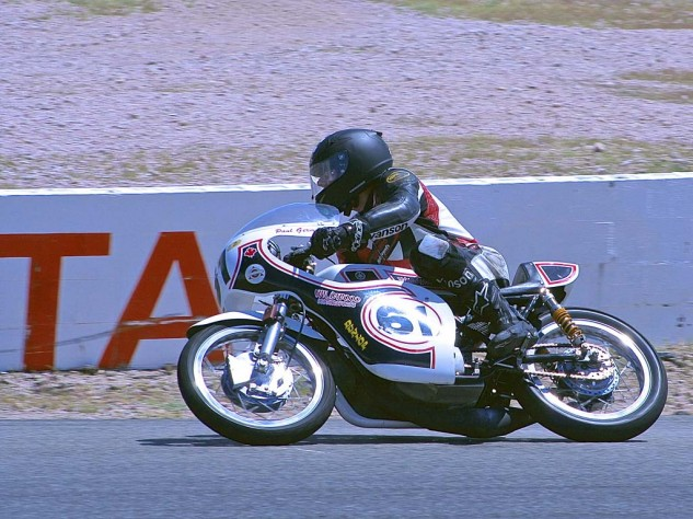 Paul Germain bends his tidy Yamaha 250 through Turn 4.