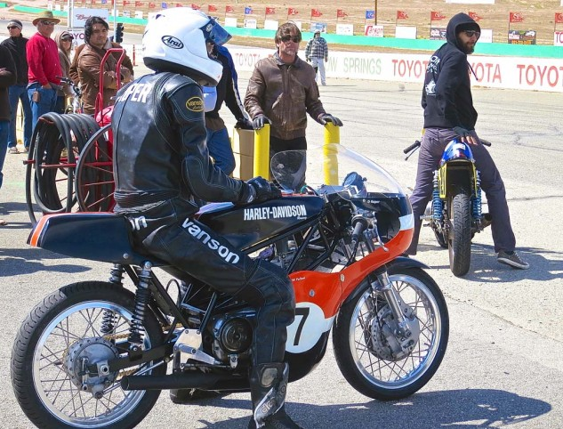In his traditional configuration, Lopin' Dave Roper waits to go out for practice on the Aermacchi.