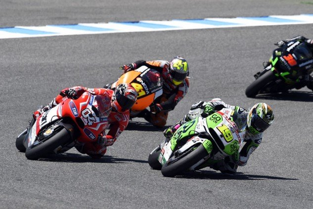 Andrea Dovizioso, Alvaro Bautista and Aleix Espargaro put in an entertaining effort for the five-through-six spots.