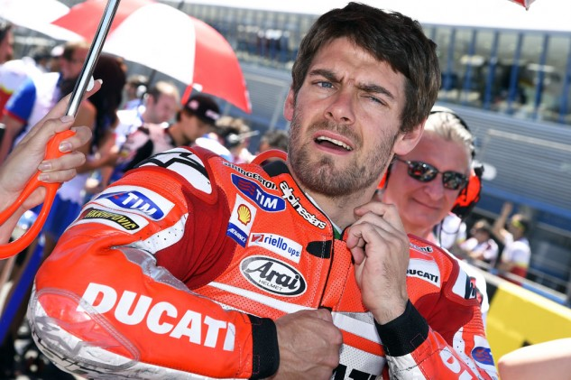 Cal Crutchlow did not look comfortable but was determined to race after missing the Argentina round.