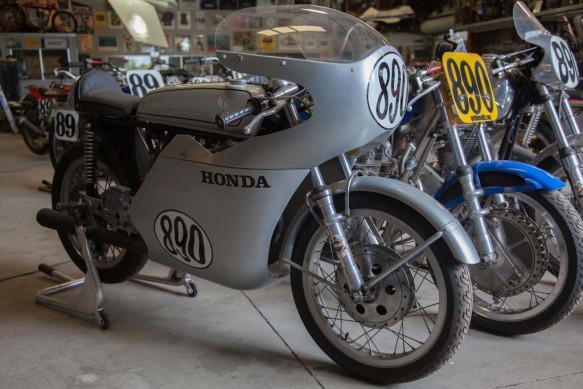 1966 Honda CB-160. A 161 cc engine in a Van-Tech racing frame.