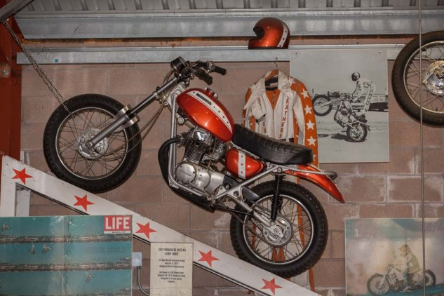 Davis jumped 21 cars with this Honda SL 350 on March 5, 1972, breaking Evel Knievel's record set the previous year.