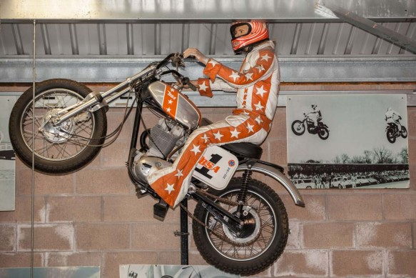 After his initial jumps, Davis was sponsored by BSA and rode a B50 MX bike.