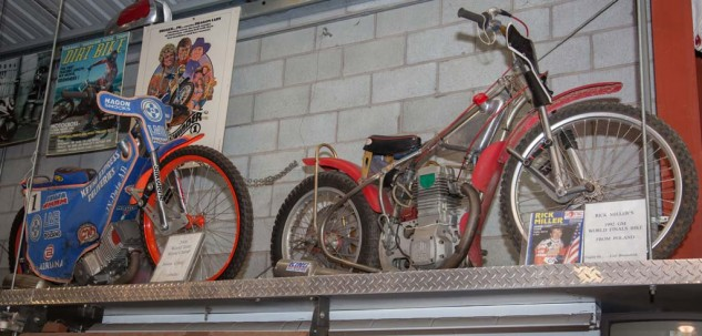 Speedway racers from (left) 2006 and (right) 1992.