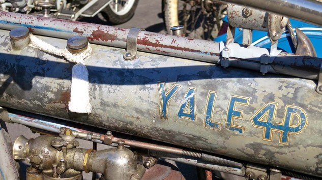 Buster Naylor's 1912 Yale 4P (473cc, 4hp) displays the perfect pattern of properly preserved patina.