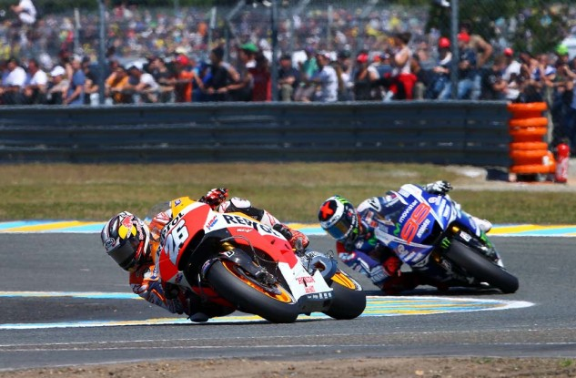Coming off of arm pump surgery, expectations were low for Dani Pedrosa. The Honda rider had a strong race, beating Jorge Lorenzo for fifth.