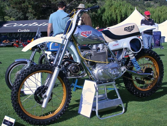Last of the mighty British 4-stroke motocrossers prior to the 2-stroke era. Clews Competition Motorcycles (CCM) were purpose-built racers with BSA engines.