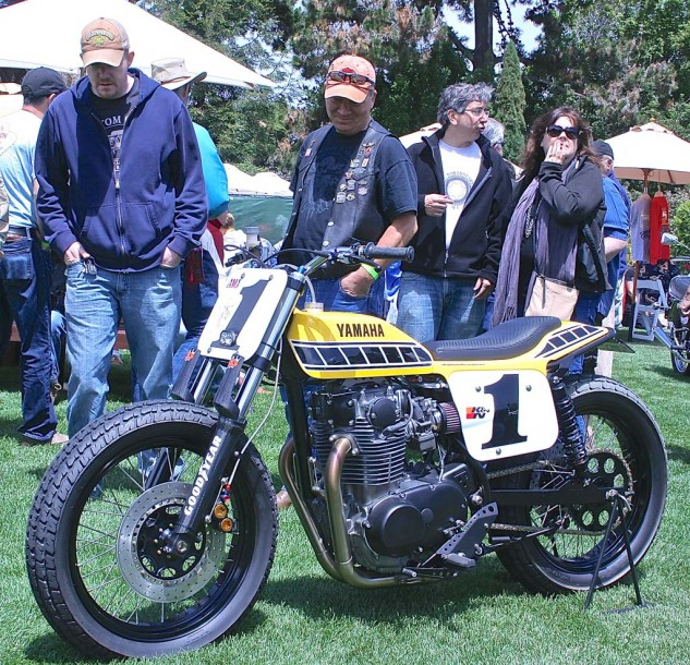Jeff Palhegyi's steet-legal version of Kenny Roberts' Yamaha 750 dirt tracker drew more than a few admiring looks.