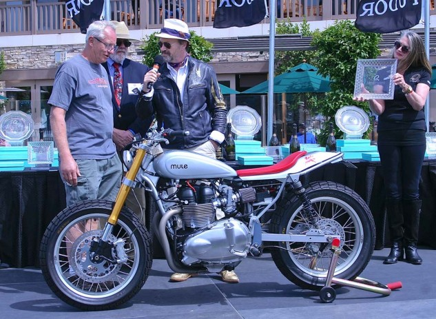 First place in Custom/Modified went to the Mule/Triumph street tracker, built for client Konstantin Drozdov of Russia.