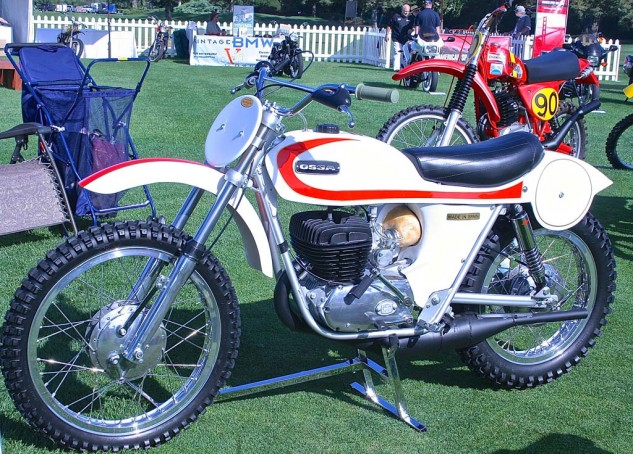 Blair Beck's pristine 1971 Ossa Stiletto won the second place award in the Competition class.
