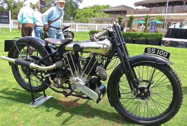 The very first Brough SS100 of 1925, owned by Herb Harris of Texas, received the Spirit of the Quail Award.
