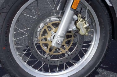 Braking performance is admirable for the components with which the GT is equipped. Front brake stopping power is particularly strong for the single 300mm disc and two-piston caliper.