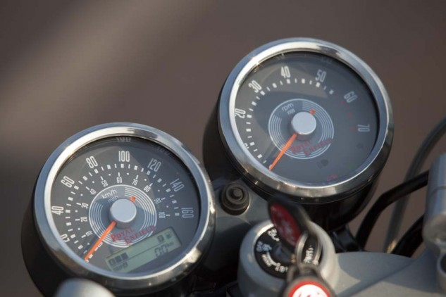 Amazingly, no matter engine speed or level of vibration, the needles on the analog speedo and tach remained rock steady and legible.