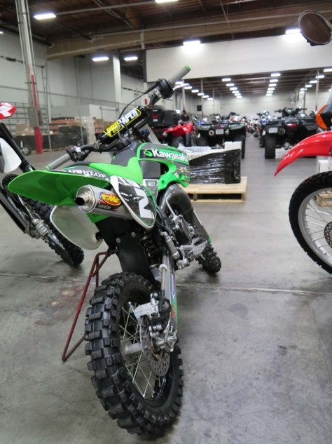 Let's hope little Billy was done playing with this sweet KX85.