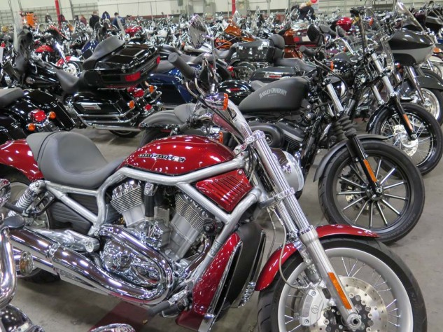There were quite a few tasty V-Rods, but maybe it only seemed that way because Harleys made up the bulk of the bikes for sale in San Diego.