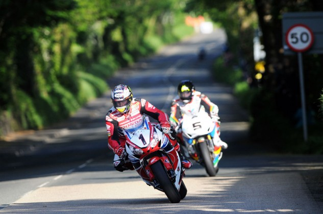 John McGuinness (1) and Bruce Anstey (5) have been two of the top Isle of Man TT in recent years. McGuinness alone has 20 wins, second all-time behind Joey Dunlop's 26. Photo by IOMTT.com.