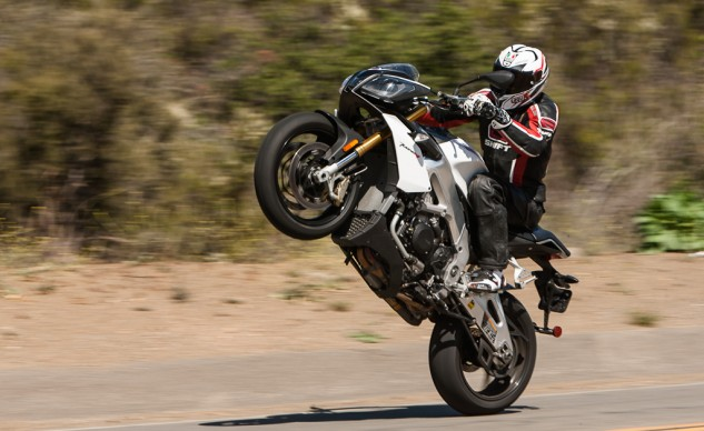 Aprilia Tuono wheelies