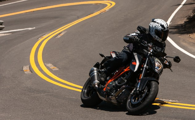 KTM Super Duke R on the street