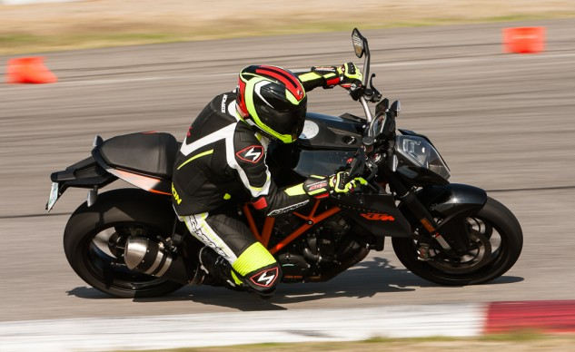KTM Super Duke R on track