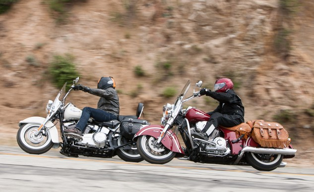 Harley Heritage Softail Classic and Indian Chief Vintage