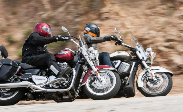 Victory Cross Roads Classic and Triumph Thunderbird LT