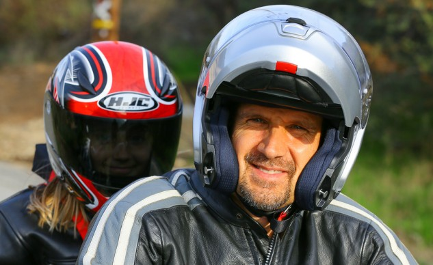 Smiling Rider and His Daughter