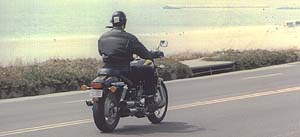 Honda Magna rear riding