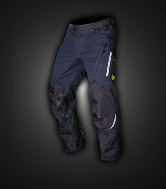 Special to the Overland Pants is the use of Gore-Tex's 3-layer laminate technology. The inside of the lower legs are protected from wear by leather that's been treated for water repellency.