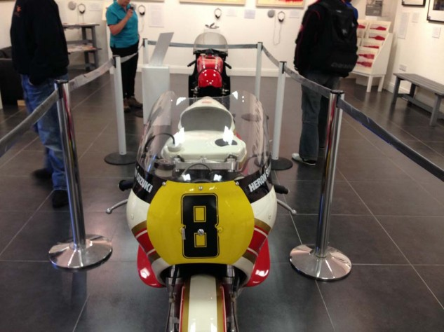 Hailwood's Heron Suzuki on display.