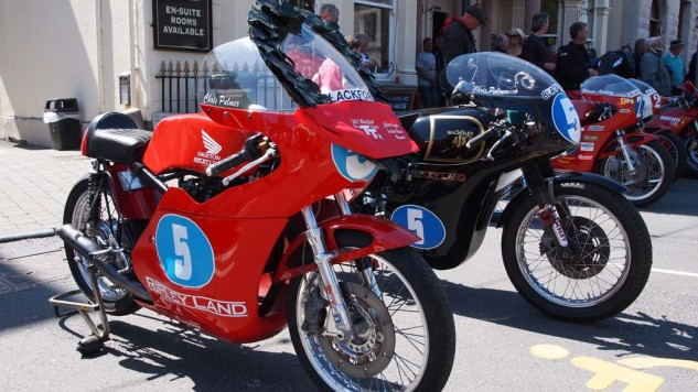 Race Bike Concours held after the Pre- TT Classic races in Castletown, IoM.