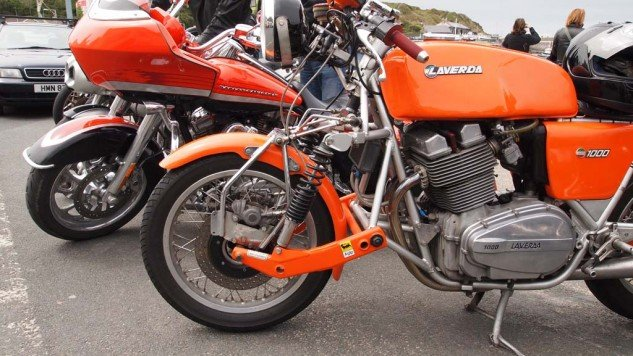 Laverda 1000 with leading link race suspension.