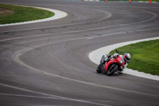 Flowing transitions like this right-left combination leading onto the IMS front straight highlight how well the RX flicks from side to side.