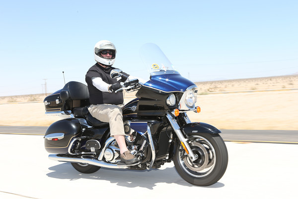 Al Pearce rode the only Kawasaki on this year's Kyle Petty Charity Ride Across America, a Vulcan Voyager. Pearce is one of only 10 people to complete all 20 Rides.