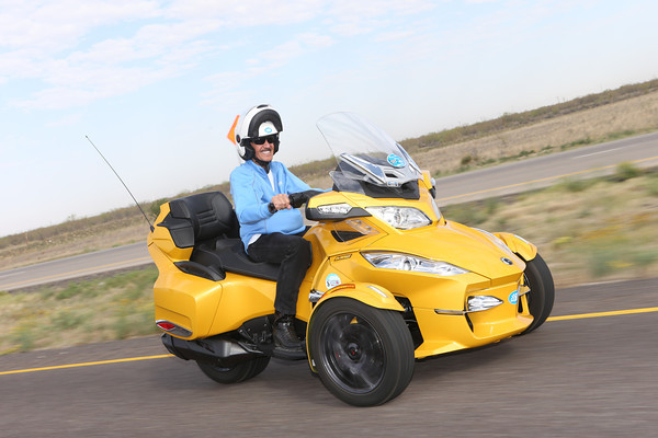 When Richard Petty's children and grandchildren said they'd feel better about the 2014 Ride if he if he didn't ride a traditional motorcycle, the seven-time NASCAR champion opted for this Can-Am Spyder.