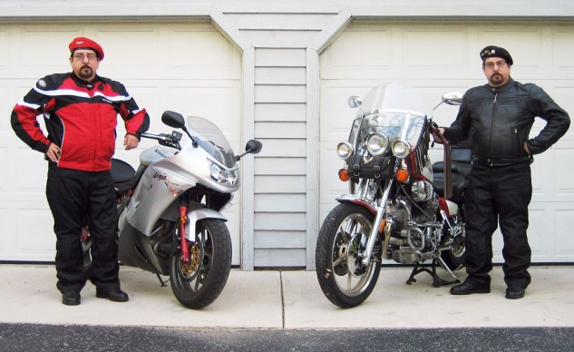 Cruiser vs. Sporbike: Is it time to beret the hatchet? Image courtesy of Prestige Media